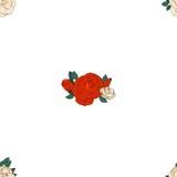Teste padrão sem emenda com rosas Fotos de Stock Royalty Free