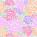 Teste padrão sem emenda com rosas ilustração royalty free