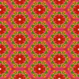 Teste padrão sem emenda com rosas estilizados Imagens de Stock