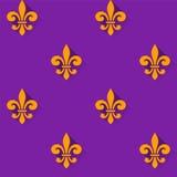 Teste padrão sem emenda com símbolo da flor de lis Fotos de Stock Royalty Free