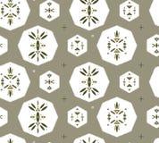 Teste padrão sem emenda com símbolos geométricos tribais Imagens de Stock Royalty Free
