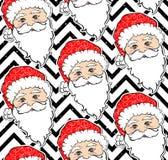 Teste padrão sem emenda com Santa Claus ilustração stock