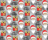Teste padrão sem emenda com Santa Claus ilustração royalty free