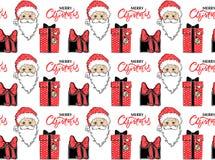 Teste padrão sem emenda com Santa Claus, ilustração stock