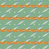 Teste padrão sem emenda com a serpentina na paleta de cores retro Imagens de Stock