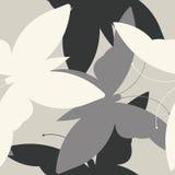 Teste padrão sem emenda com silhuetas das borboletas Fotografia de Stock Royalty Free