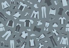 Teste padrão sem emenda com sportswear e sapatas dos esportes ilustração do vetor