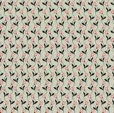 Teste padrão sem emenda com tema floral bege Imagem de Stock