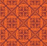 Teste padrão sem emenda com tema floral vermelho Foto de Stock Royalty Free