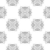 Teste padrão sem emenda com teste padrão redondo decorativo do laço ilustração do vetor