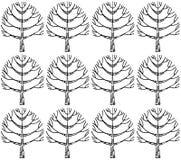 Teste padrão sem emenda com textura botânica no estilo da garatuja Imagens de Stock Royalty Free