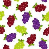 Teste padrão sem emenda com uvas ilustração stock