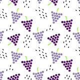 Teste padrão sem emenda com uvas e sementes ilustração royalty free