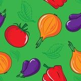 Teste padrão sem emenda com vegetais Fotos de Stock Royalty Free