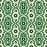 Teste padrão sem emenda com verde floral do teste padrão Foto de Stock Royalty Free