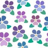 Teste padrão sem emenda com violetas sem tido estilizado do fundo, o agradável e o simples, flores, papel de parede do vetor imagens de stock royalty free