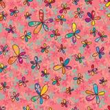 teste padrão sem emenda completo da flor ilustração do vetor