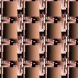 Teste padrão sem emenda, construção tridimensional do metal fotos de stock royalty free
