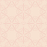 Teste padrão sem emenda cor-de-rosa bonito com ornamento dos corações Fotos de Stock Royalty Free