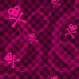 Teste padrão sem emenda cor-de-rosa de Emo com círculos Imagens de Stock Royalty Free
