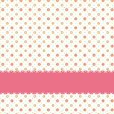 Teste padrão sem emenda cor-de-rosa do ponto de polca da flor Fotografia de Stock Royalty Free
