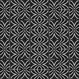 Teste padrão sem emenda corajoso tribal preto e branco Foto de Stock Royalty Free