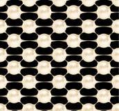 Teste padrão sem emenda cosmético, estrutura das pérolas Vector a ilustração da beleza do produto inovativo clinicamente testado Fotografia de Stock Royalty Free