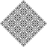 Teste padrão sem emenda curvado preto e branco imagens de stock royalty free