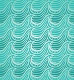 Teste padrão sem emenda da água ilustração do vetor