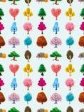 Teste padrão sem emenda da árvore Imagem de Stock Royalty Free