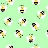 Teste padrão sem emenda da abelha ilustração stock