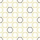 Teste padrão sem emenda da abelha real ilustração royalty free