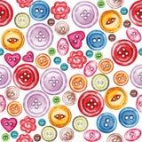 Teste padrão sem emenda da aquarela de vários botões da costura ilustração do vetor