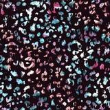 Teste padrão sem emenda da aquarela do leopardo ilustração stock