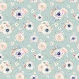 Teste padrão sem emenda da aquarela elegante com flores Imagem de Stock Royalty Free