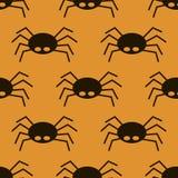 Teste padrão sem emenda da aranha preta grande assustador, isect venenoso ilustração royalty free
