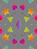Teste padrão sem emenda da arte op do vetor abstrato Pop art colorido, gráfico Imagem de Stock Royalty Free