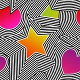 Teste padrão sem emenda da arte op do vetor abstrato Pop art colorido, gráfico Fotos de Stock