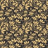 Teste padrão sem emenda da bérberis silhueta da baga ou das plantas Imagens de Stock