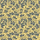 Teste padrão sem emenda da bérberis silhueta da baga ou das plantas Foto de Stock Royalty Free