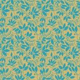 Teste padrão sem emenda da bérberis silhueta da baga ou das plantas Imagem de Stock Royalty Free