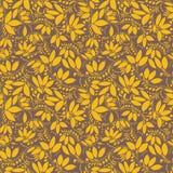 Teste padrão sem emenda da bérberis silhueta da baga ou das plantas Imagens de Stock Royalty Free