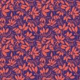 Teste padrão sem emenda da bérberis silhueta da baga ou das plantas Foto de Stock
