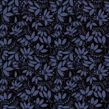 Teste padrão sem emenda da bérberis silhueta da baga ou das plantas Fotografia de Stock