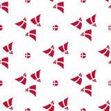 Teste padrão sem emenda da bandeira dinamarquesa Imagens de Stock