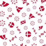 Teste padrão sem emenda da bandeira dinamarquesa estilizado Fotografia de Stock