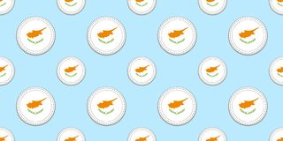 Teste padrão sem emenda da bandeira do círculo de Chipre Fundo cipriota ?cones do c?rculo do vetor S?mbolos geom?tricos Textura p ilustração do vetor