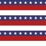 Teste padrão sem emenda da bandeira dos Estados Unidos patriótica americana no vermelho brilhante, no azul e no branco ilustração stock