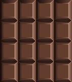 Teste padrão sem emenda da barra de chocolate Fotos de Stock