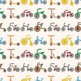 Teste padrão sem emenda da bicicleta Fotografia de Stock Royalty Free